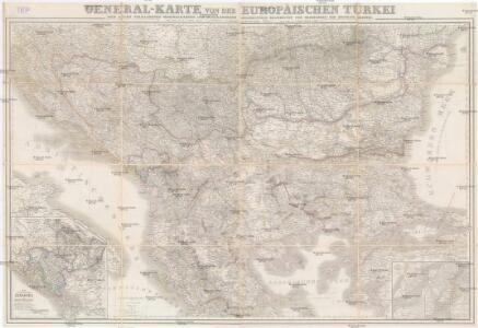 General-Karte von der europäischen Türkey