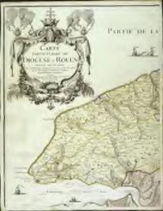 Carte particuliere du diocese de Rouen, 1