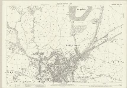 Shropshire XII.14 (includes: Oswestry Urban; Selattyn; Whittington) - 25 Inch Map