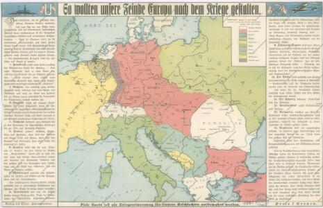 So wollten unsere Feinde Europa nach dem Kriege gestalten
