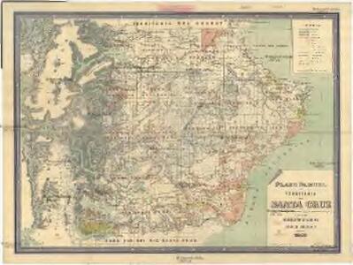 Plano parcial del territorio de Santa Cruz