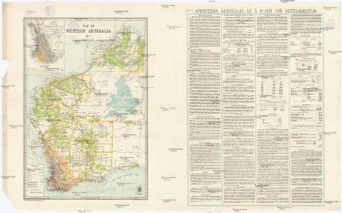 Map of Western Australia, 1904