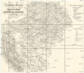 Strassen Karte der croatischen Militair Grenze