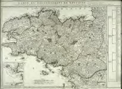 Carte du gouvernement de Bretagne