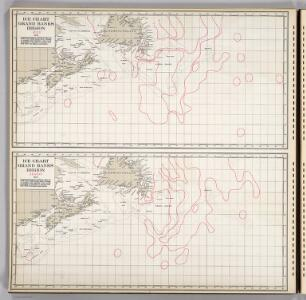 Ice Chart, Grand Banks Region, July, August.