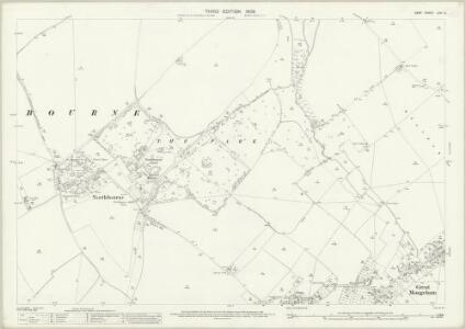 Kent LVIII.3 (includes: Deal; Northbourne; Sholden) - 25 Inch Map