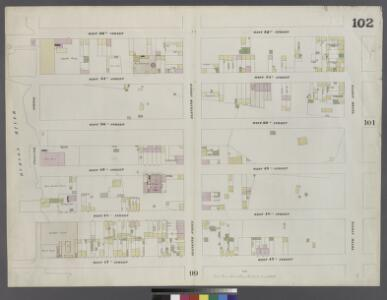 Plate 102: Map bounded by West 52nd Street, Tenth Avenue, West 47th Street, Hudson River