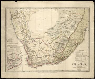 Mission map of South Africa according to the map in Stieler's Atlas