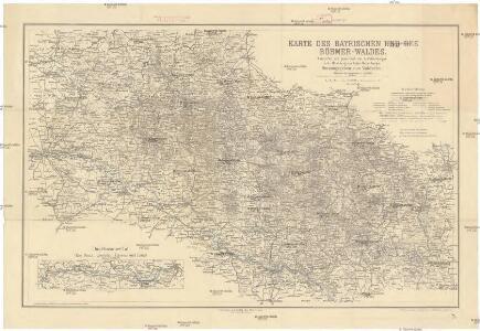 Karte des Bayrischen und des Böhmer-Waldes