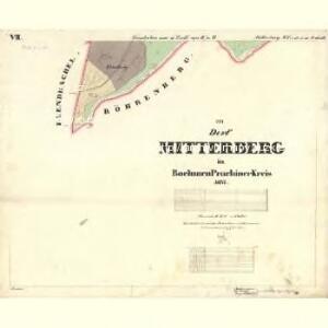 Mitterberg - c6304-2-009 - Kaiserpflichtexemplar der Landkarten des stabilen Katasters