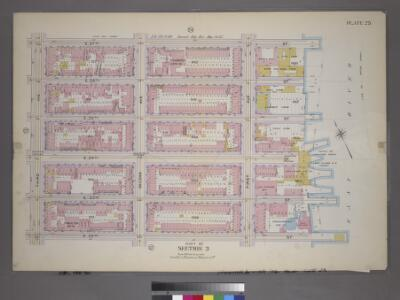 Plate 23, Part of Section 3: [Bounded by E. 37th Street, (East River Piers) First Avenue, E. 32nd Street and Third Avenue.]