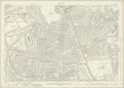 London (1915- Numbered sheets) II.15 (includes: Hackney; Stoke Newington) - 25 Inch Map