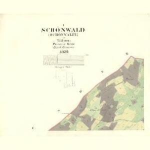 Schönwald (Schömwaldy) - m2321-6-001 - Kaiserpflichtexemplar der Landkarten des stabilen Katasters