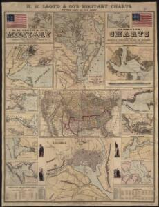 H.H. Lloyd & Co's campaign military charts showing places of interest