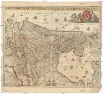 Comitatus Hollandiae tabula pluribus locis