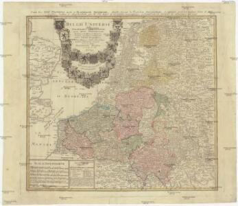 Belgii universi seu inferioris Germaniae quam XVII. provinciae, Austriaco, Gallico et Batavo sceptro parentes constituunt, nova tabula geographica