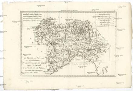 La Savoie, le Piémont, le Mont-Ferrat, et la république de Genes, avec les duchés de Milan et de Parme
