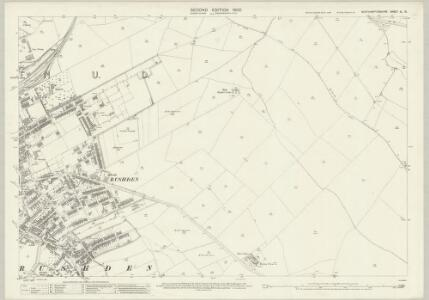 Northamptonshire XL.10 (includes: Higham Ferrers; Rushden) - 25 Inch Map
