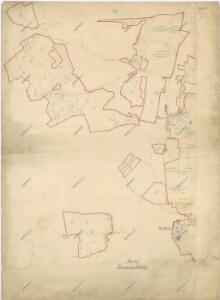 Katastrální plán dvorů Dlažov-Miletice