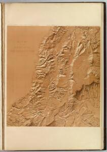 Relief map of the district of the high plateaus of Utah.
