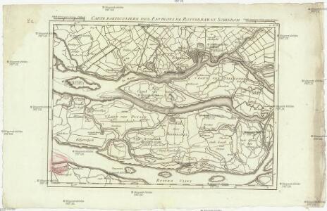 Carte particuliere des environs de Rotterdam et Schiedam