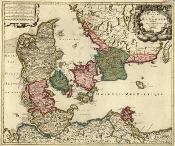 Le Royaume de Danemark Subdiuise en ses Principales Provinces Tiré de Plusier Momoires