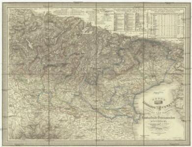 General- Post und Strassenkarte des Lombardisch-Venezianischen Königreichs