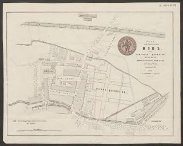 Plan eines Theiles der Stadt Biel nebst dem Neuen-Quartier auf dem von der Baugesellschaft von Biel erworbenen Terrain