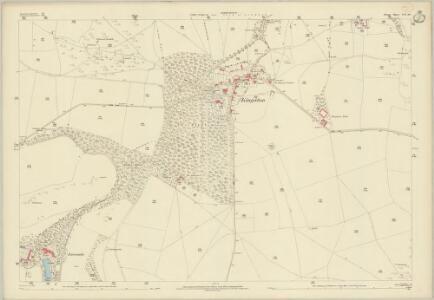 Dorset LVI.10 (includes: Church Knowle; Corfe Castle) - 25 Inch Map
