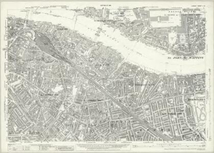 London (1915- Numbered sheets) V.15 (includes: Bermondsey; London; Stepney) - 25 Inch Map