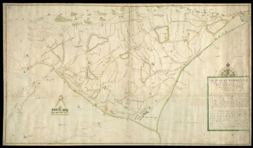 The plat of Romney Marsh, Describing as well the Common Watercourses, with Their Heads, Armes, Pinocks, Bridges, and Principal Gutt