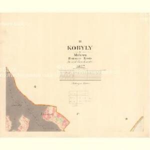Kobyly - m1226-1-003 - Kaiserpflichtexemplar der Landkarten des stabilen Katasters