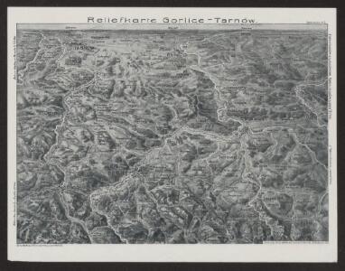 Reliefkarte Gorlice-Tarnów