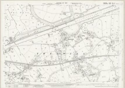 Cheshire XVII.5 (includes: Grappenhall; Lymm; Warrington; Woolston) - 25 Inch Map