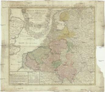 Belgii universi seu inferioris Germaniae quam XVII provinciae Austriaco, Gallico et Batavo sceptro parentes constituunt nova tabula geographica