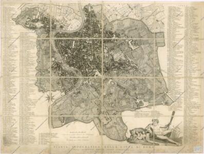 Pianta topografica della citta di Roma