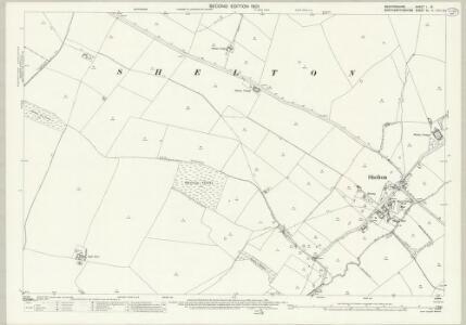 Bedfordshire I.15 (includes: Chelveston Cum Caldecott; Dean and Shelton; Melchbourne and Yelden) - 25 Inch Map