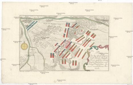Plan der bey Gross-Jägerndorf, den 30 Augusti A.o 1757 zwischen denen kayser. russischen und könig. preussischen Armeen vorgefallen Bataille