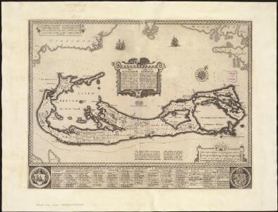 Mappa æstivarum insularum alias Bermudas dictarum ad ostia Mexicani ... accurate descr. = A Mapp of the Sommer Islands once called the Bermudas lying at the mouth of the Bay of Mexico ... exactlie surveyed