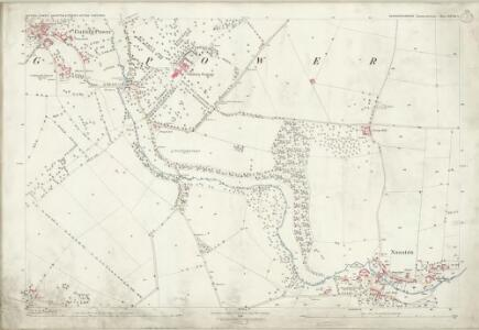 Gloucestershire XXVIII.2 (includes: Guiting Power; Naunton) - 25 Inch Map