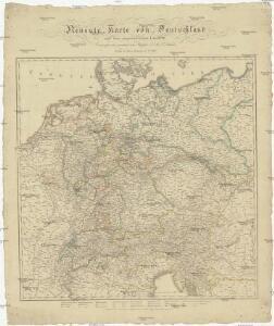 Neueste Karte von Deutschland und den angränzenden Ländern