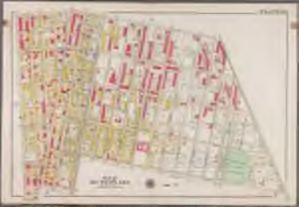 Plate 24: [Bounded by Saratoga Avenue, East New York Avenue, Rochester Avenue, Atlantic Avenue, Utica Avenue, Fulton Street, Reid Avenue and Chauncey Street.]; Atlas of the borough of Brooklyn, city of New York: from actual surveys and official plans by George W. and Walter S. Bromley.