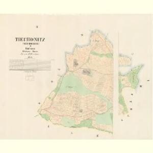 Tiechonitz (Těchonice) - c7881-1-001 - Kaiserpflichtexemplar der Landkarten des stabilen Katasters