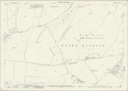 Hampshire and Isle of Wight XL.16 (includes: Hursley; Sparsholt; Winchester) - 25 Inch Map