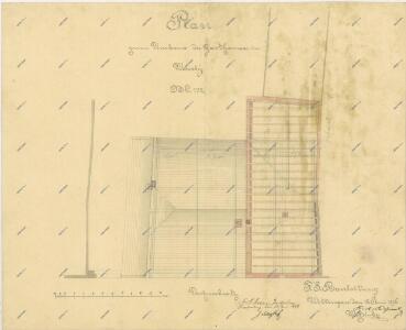 Plán přestavby hostince ve Veselí nad Lužnicí 1