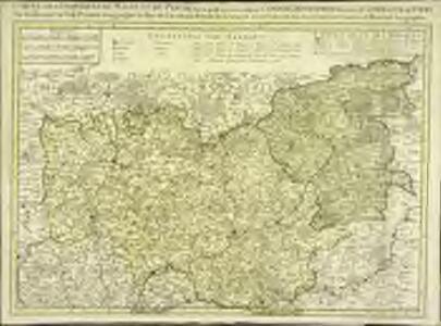 Carte des provinces du Maine et du Perche