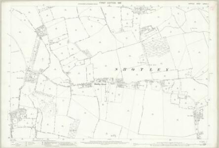 Suffolk LXXXIX.2 (includes: Erwarton; Shotley) - 25 Inch Map