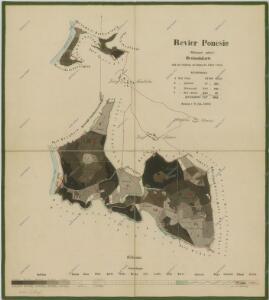 Porostní mapa polesí Poněšice 1