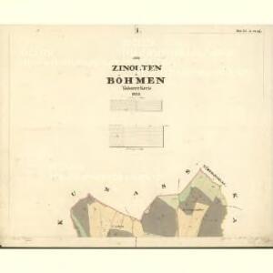 Zinolten - c6849-1-001 - Kaiserpflichtexemplar der Landkarten des stabilen Katasters
