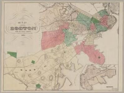 Map of Boston : from the latest surveys